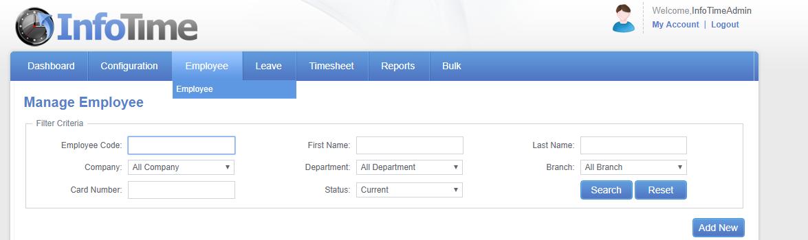 Mobile Clocking Instructions employee screen